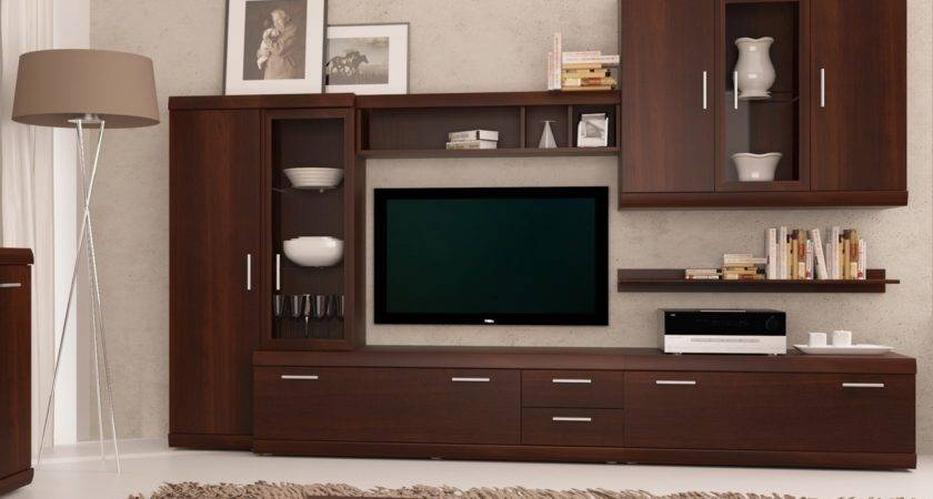 Imperial Walnut Entertainment Center Furnish
