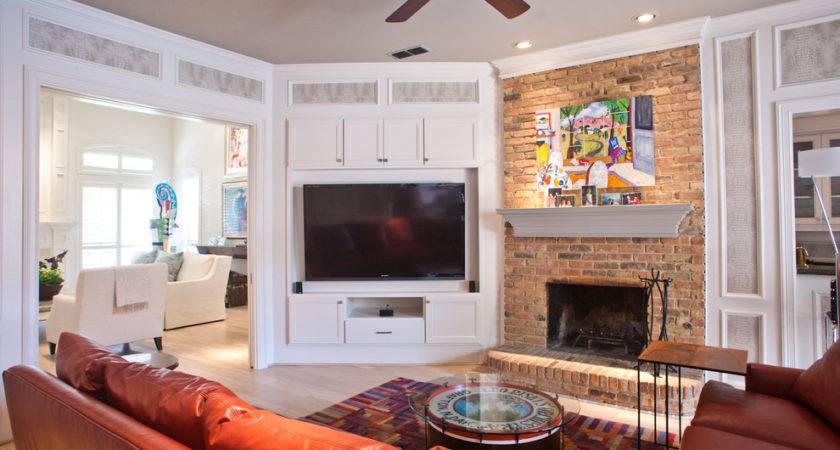 Impressive Corner Cabinet Flat Screens Decorating