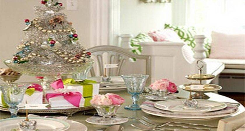 Indoor White Vintage Christmas Table Decorations