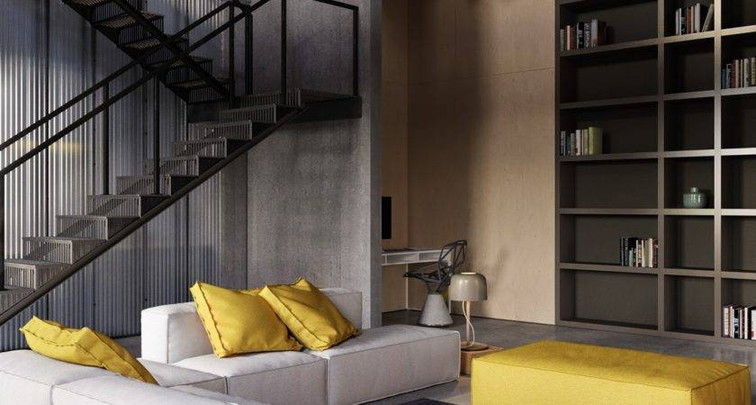 Industrial Inspired Apartment Sophisticated Style