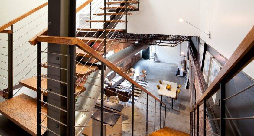 Industrial Railings Wooden Accents