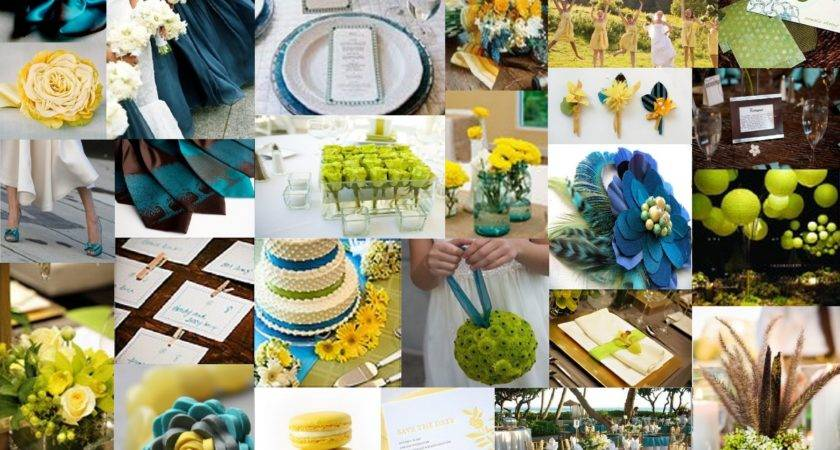 Inspiration Chartreuse Teal Brown Yellow