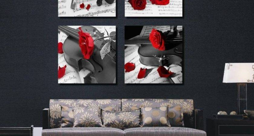 Inspirations Black White Red Wall Art