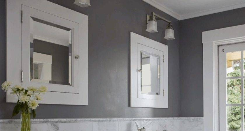 Interesting Grey Bathroom Paint Colors Completed