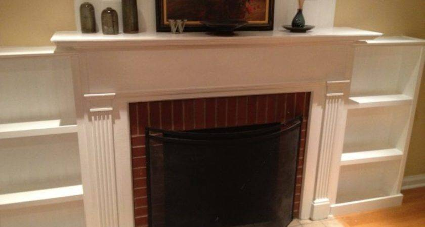 Interior Fireplace Mantel Diy Built Bookcase