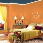 Interior Paints Bedrooms Orange Paint