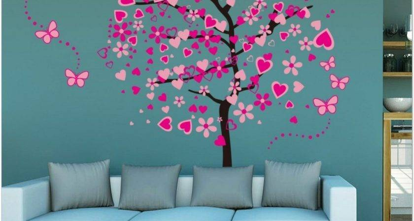 Interior Tree Wall Painting Teen Girl Room Decor Kids