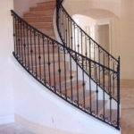 Interior Wrought Iron Stair Rails Newel Posts