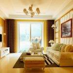 Interior Yellow Living Room Design