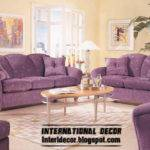 International Living Room Ideas Purple Furniture