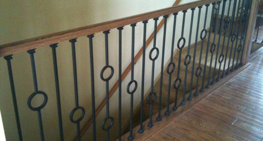 Iron Balusters Contemporary Staircase Chicago