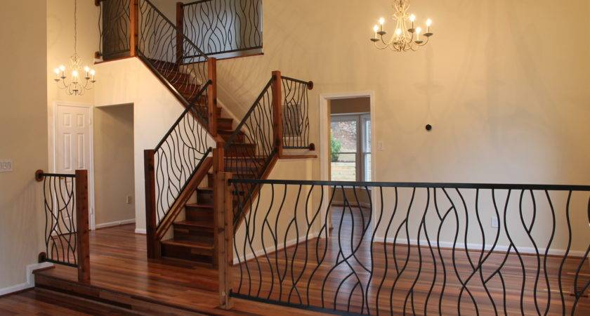 Iron Interior Railing Our Artisan Bent Design Fir