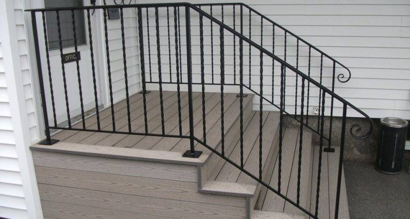 Iron Railings Stairs Exterior Wrought Railing