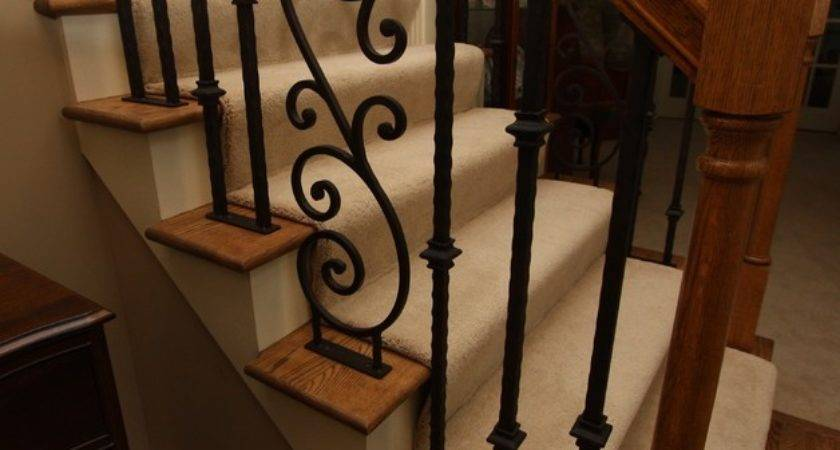 Iron Stair Rail Traditional Staircase Cleveland
