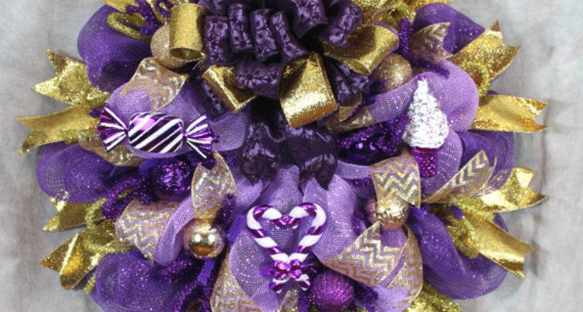 Items Similar Christmas Wreath Purple