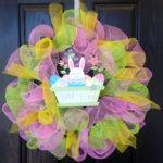 Items Similar Deco Mesh Wreath Easter Spring
