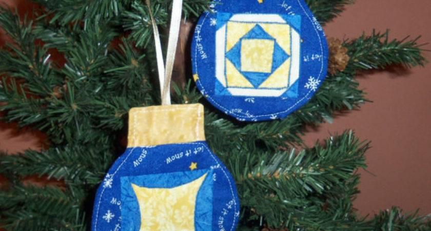 Items Similar Handmade Quilted Ornaments Blue Orange