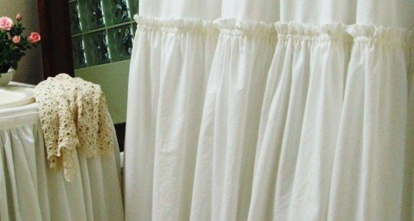 Items Similar White Ruffle Shower Curtain Simple