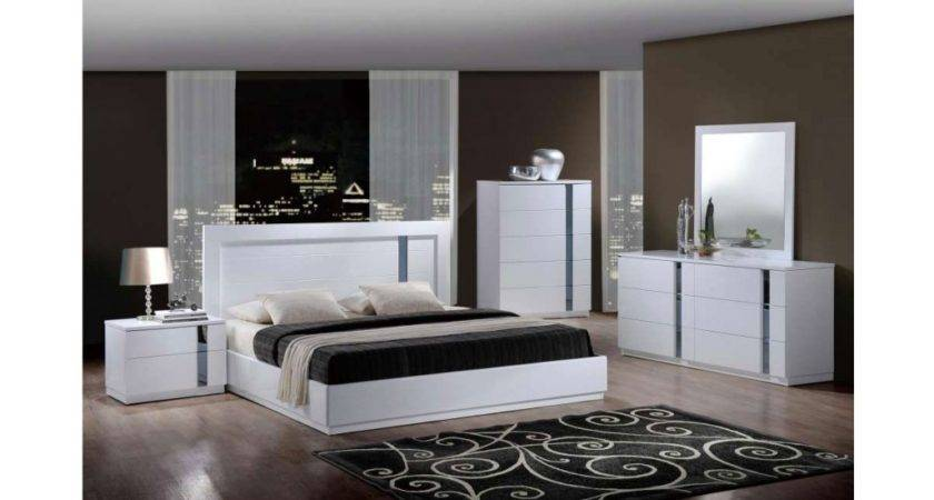 Jody Contemporary Bedroom Set White Finish