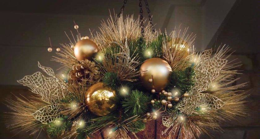 John Wood Golden Cordless Holiday Trim Hanging