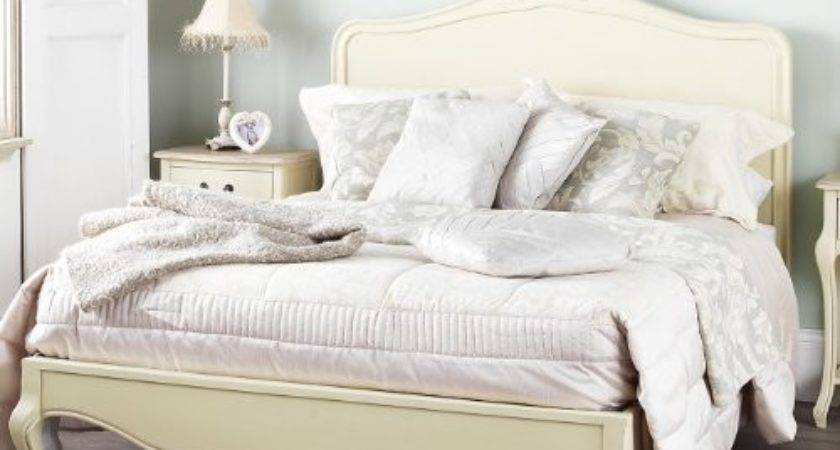 Juliette Shabby Chic Champagne Double Bed Wooden