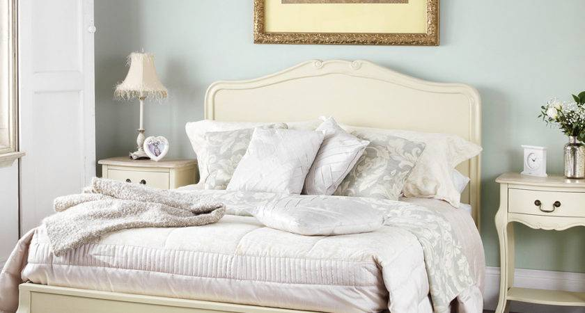 Juliette Shabby Chic Champagne King Bed Cream