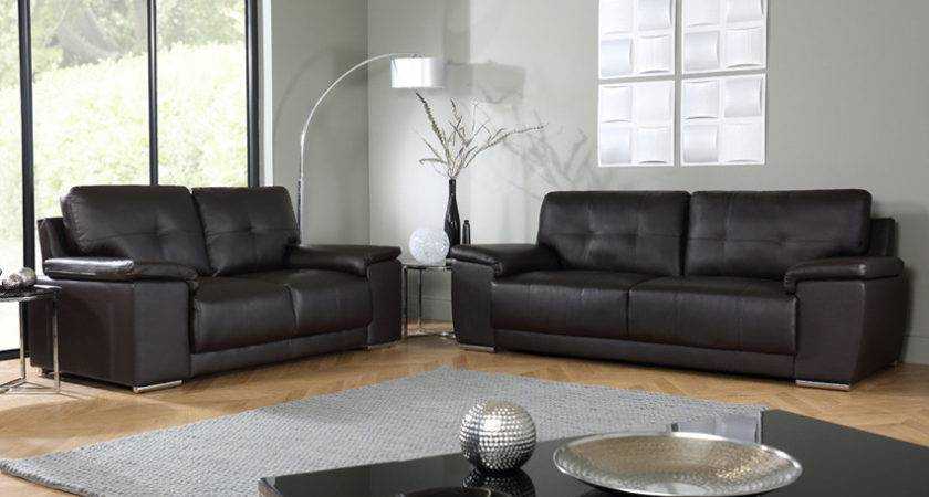 Kansas Brown Seater Leather Sofa Suite Only