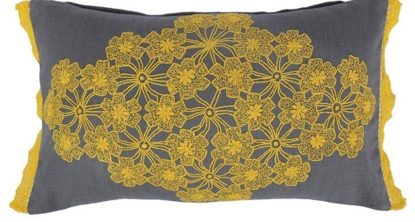 Karma Living Floral Lace Pillow Fab