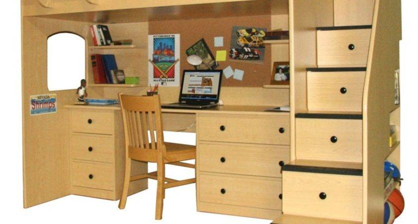 Kids Loft Beds Desk Decorate House