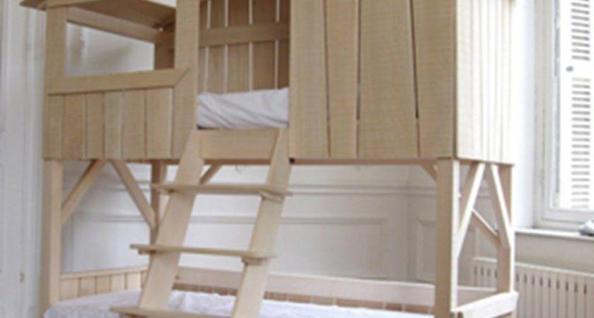 Kids Treehouse Bunk Bed Natural Pine Mdf Cuckooland