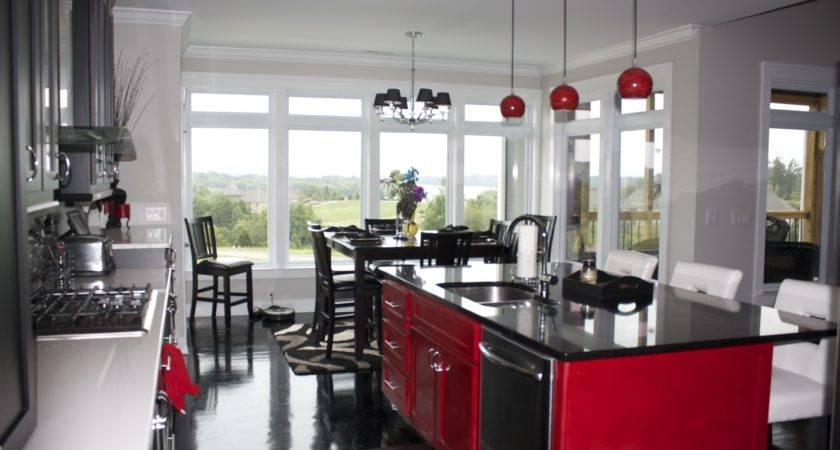 Kitchen Black Red Ideas