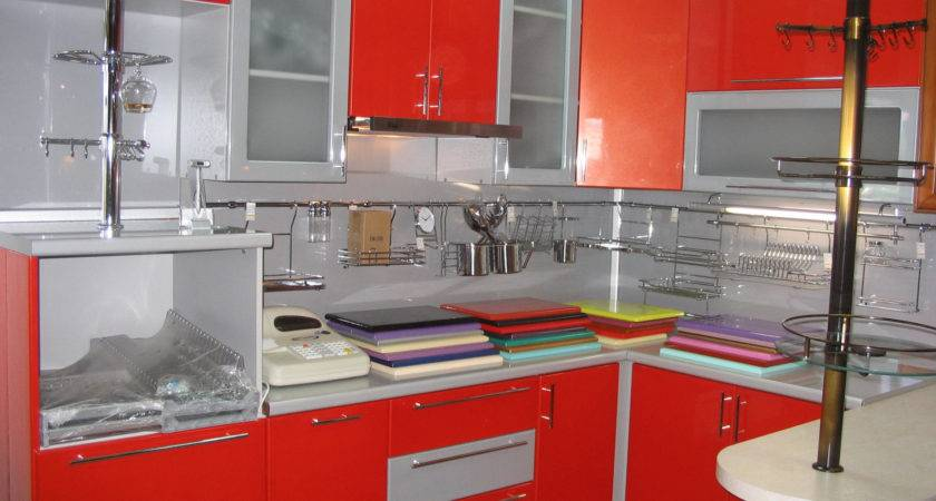 Kitchen Design Red Silver Kitchentoday