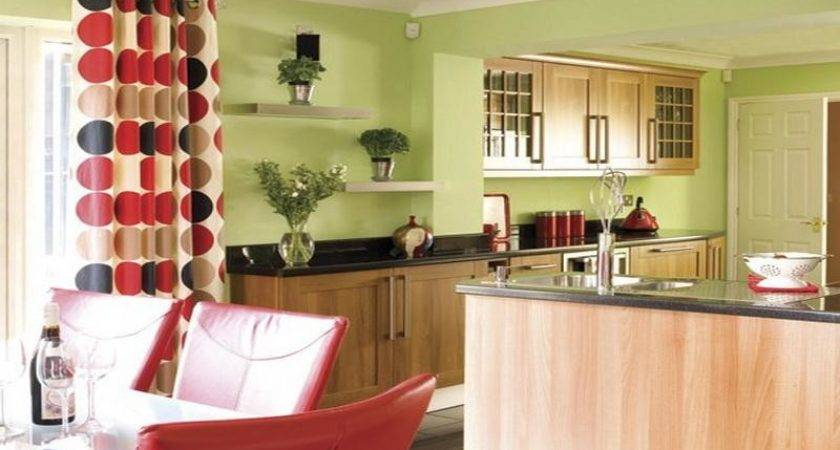 Kitchen Green Red Wall Colors Ideas