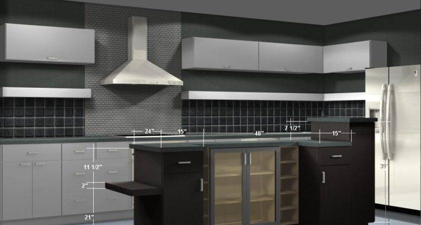 Kitchen Island Configurations Using Wall Cabinets