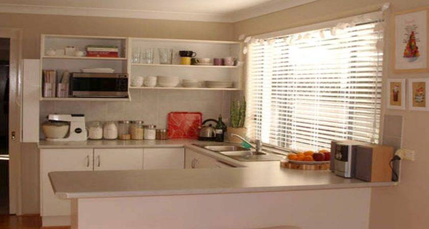 Kitchen Open Cabinets Small Layout Design