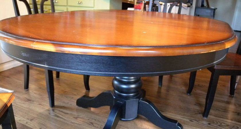 Kitchen Table Chair Makeover Stain Paint