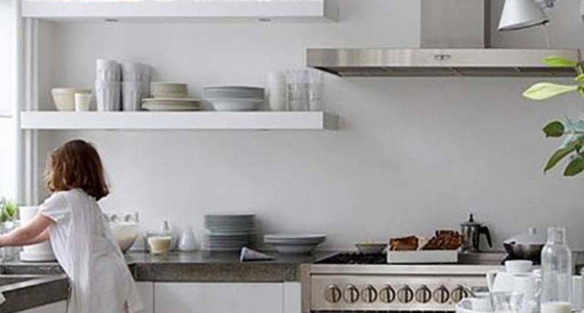 Kitchens Open Shelving Like Fresh Laundry