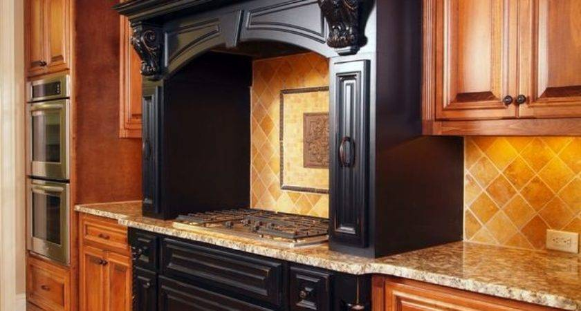 Kitchens Traditional Black Kitchen Cabinets