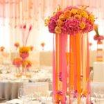 Knotsvilla Pink Orange Wedding Centerpiece