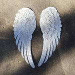 Large Angel Wings Metal Wall Decor