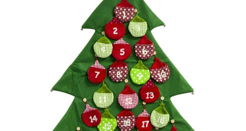 Large Fabric Christmas Tree Advent Calendar Numbered