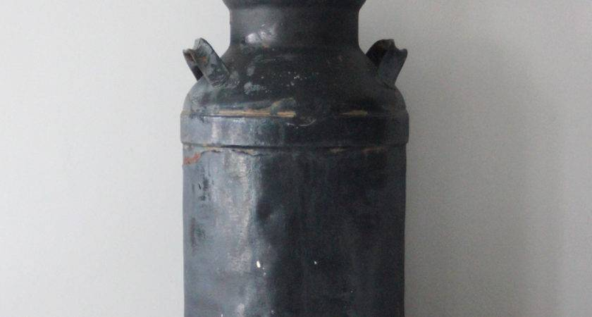 Large Industrial Rustic Milk Can Omero Home