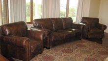 Large Luxurious Brown Cowhide Leather Sofa Lounge Suite