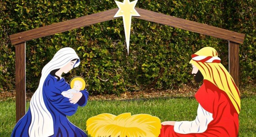 Large Outdoor Christmas Ornaments Nativity Yard Decorations
