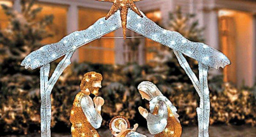 Large Twinkle Led Lighted Christmas Figures Outdoor