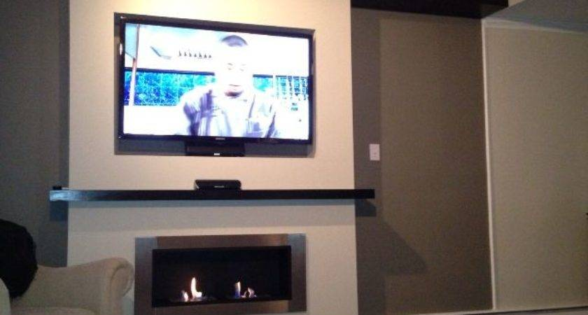 Lata Ventless Fireplace Recessed Under Home