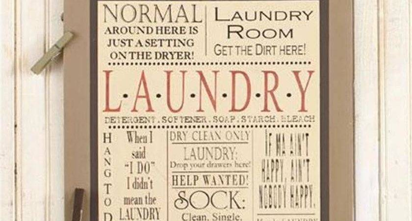 Laundry Room Decor Metal Sign Wall Plaque Clothes Pin