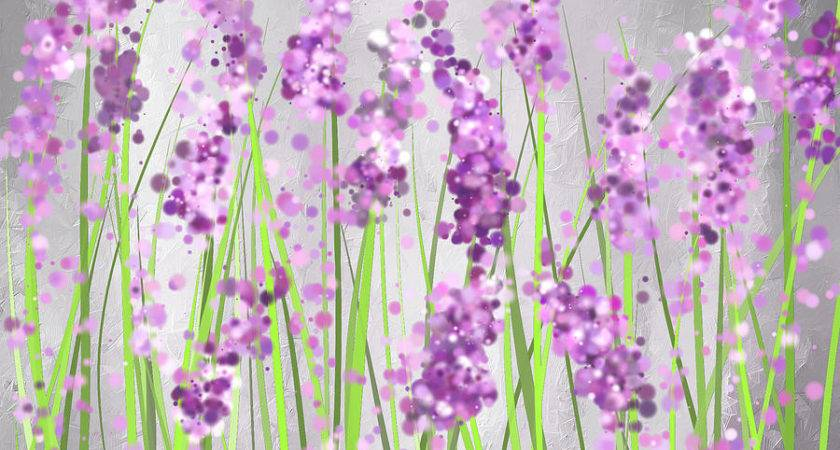 Lavender Blossoms Field Painting