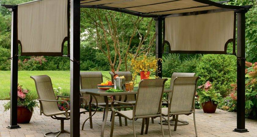 Lawn Garden Patio Gazebo Design Ideas