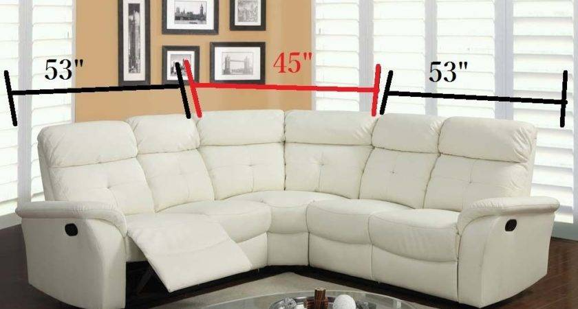 Lawrence Sectional Sofa Motion Light Beige Leather